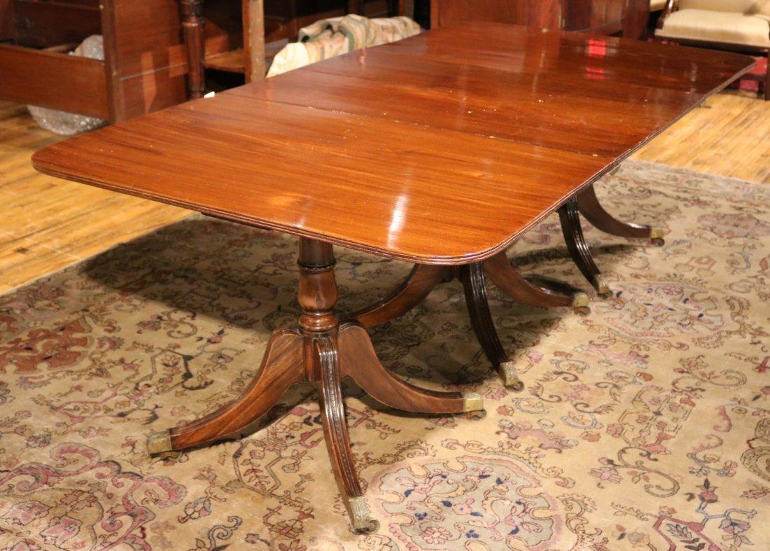 Regency Mahogany Three Pedestal Dining Table
