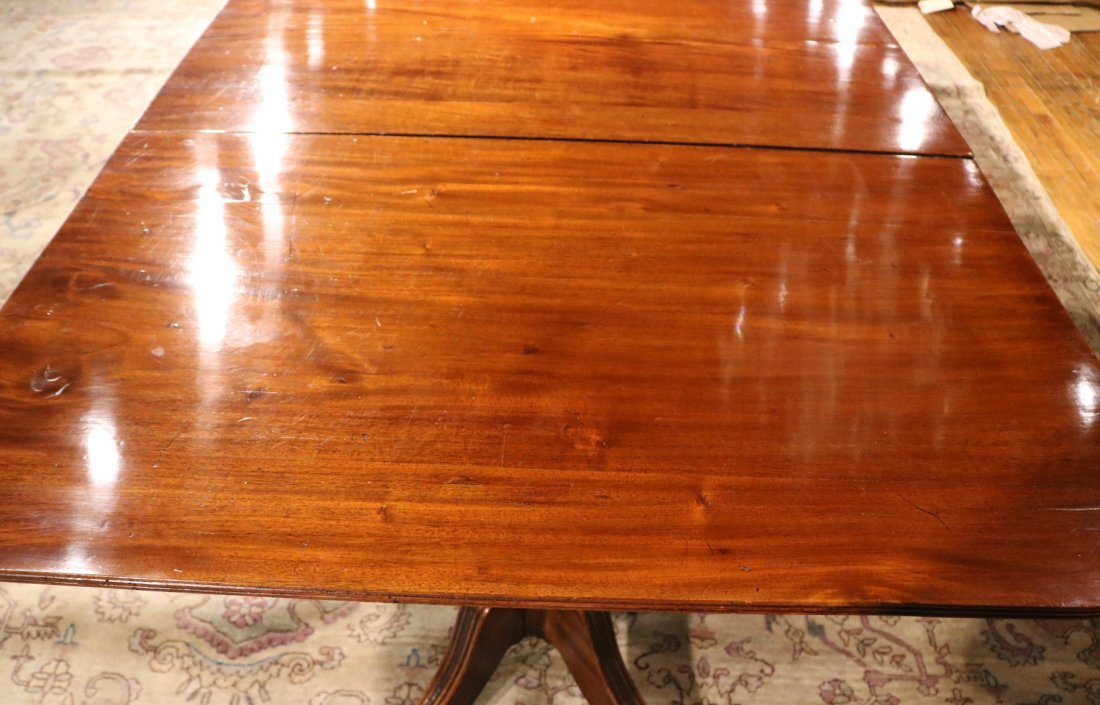 Regency Mahogany Three Pedestal Dining Table - 5