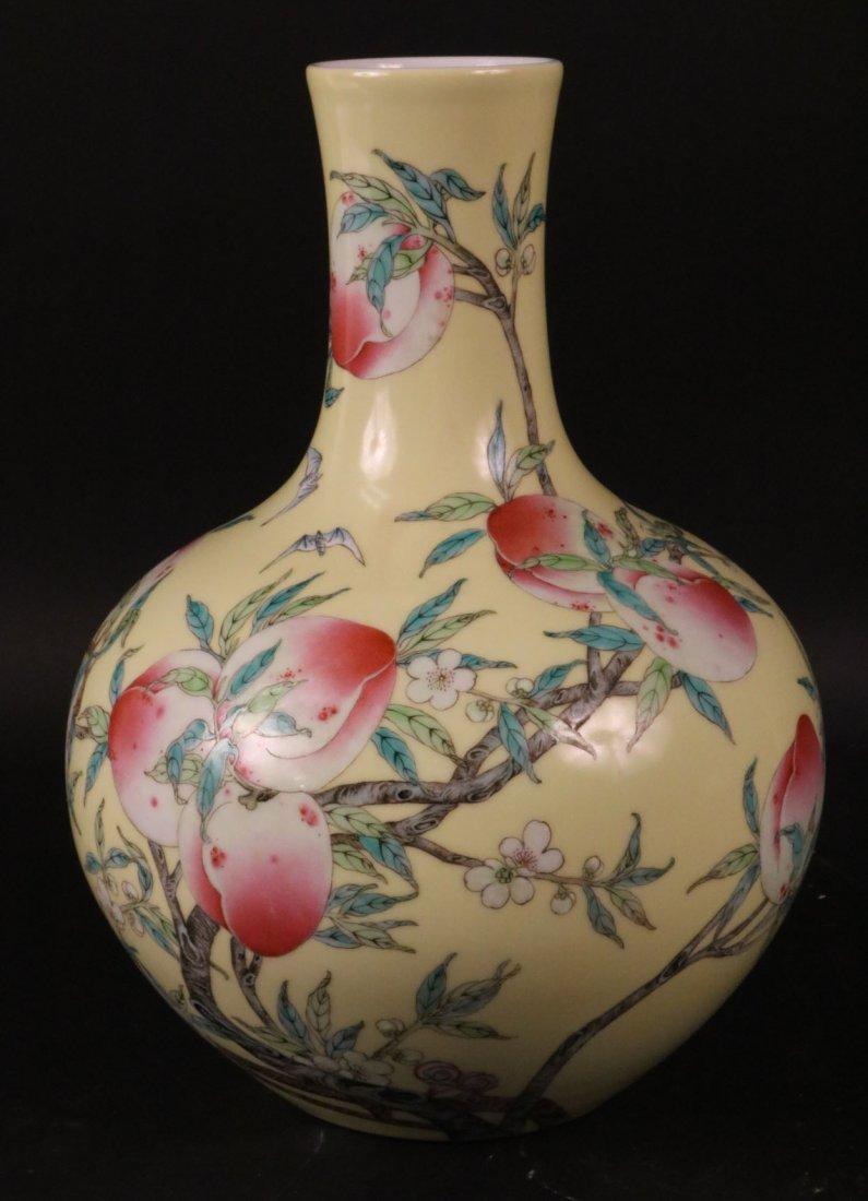 Chinese Porcelain Bottle Neck Vase
