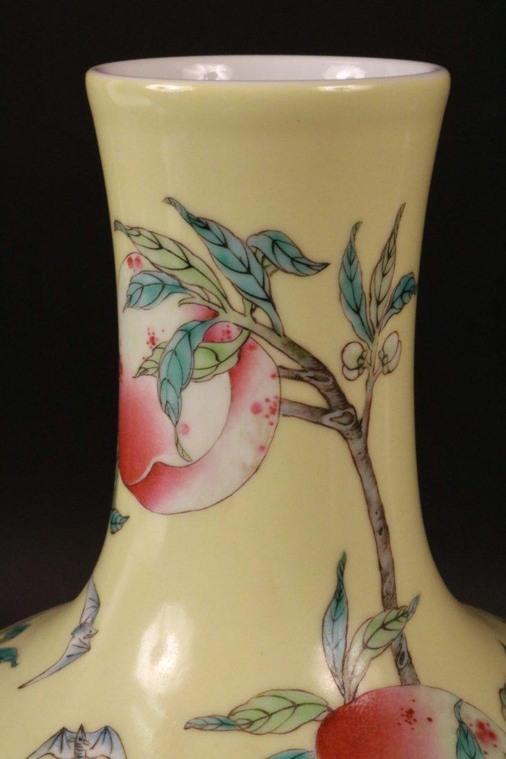 Chinese Porcelain Bottle Neck Vase - 3