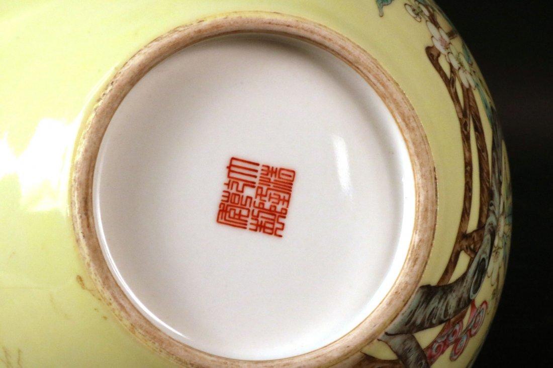 Chinese Porcelain Bottle Neck Vase - 7