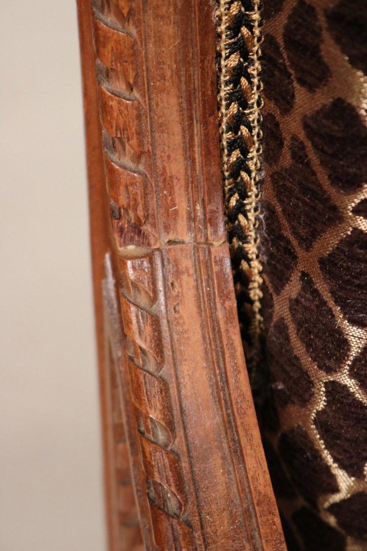Pair of Louis XVI Style Walnut Armchairs - 2
