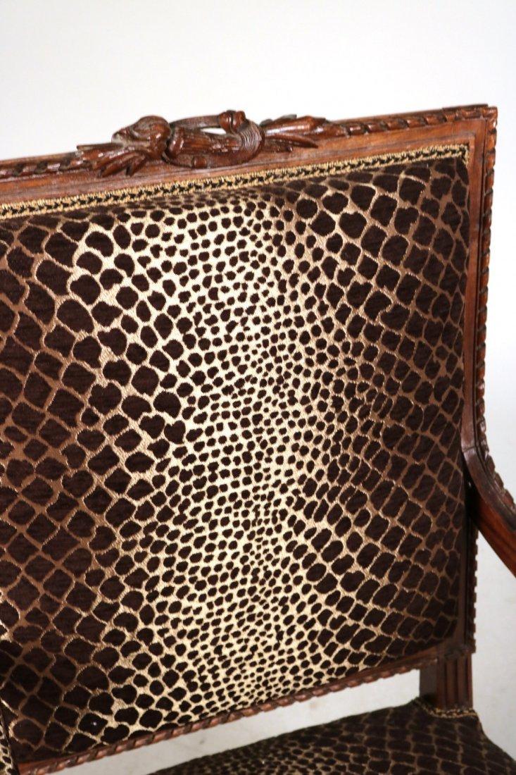 Pair of Louis XVI Style Walnut Armchairs - 6