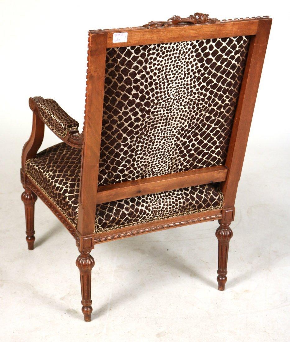 Pair of Louis XVI Style Walnut Armchairs - 8