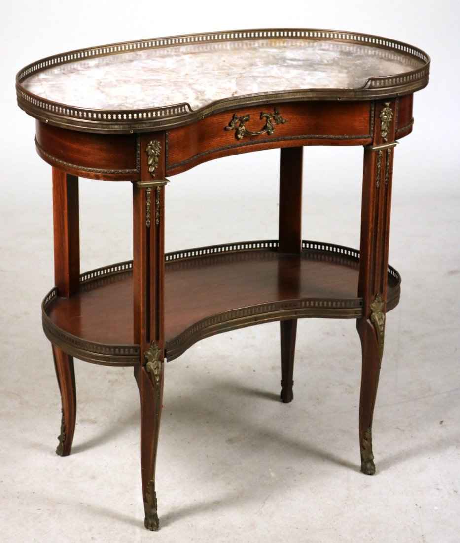 Louis XV Style Kidney-Shaped Side Table