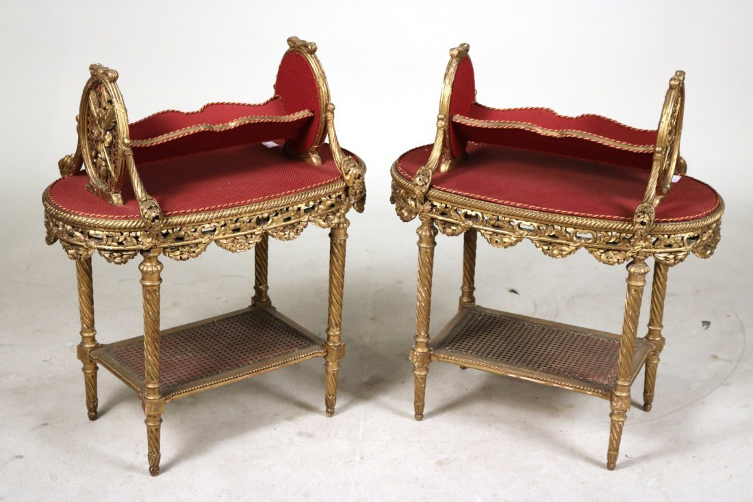 Pair of Louis XVI Style Giltwood Bookstands