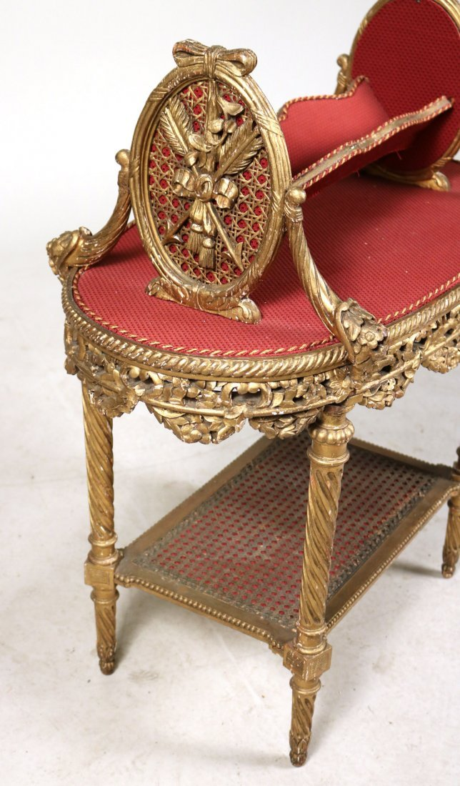 Pair of Louis XVI Style Giltwood Bookstands - 3