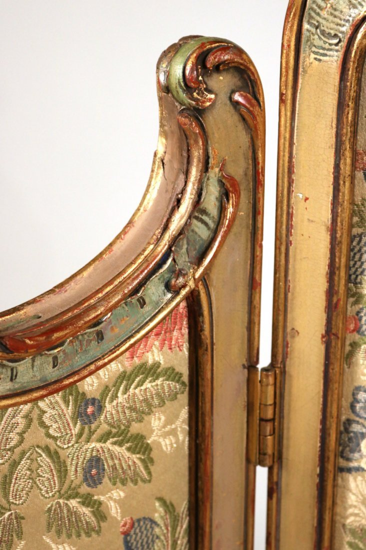 Louis XV Style Paint-Decorated Three-Panel Screen - 3