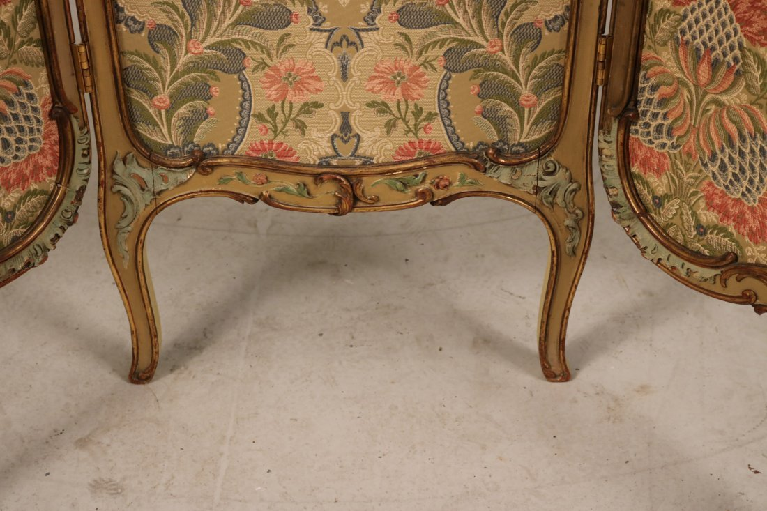 Louis XV Style Paint-Decorated Three-Panel Screen - 5
