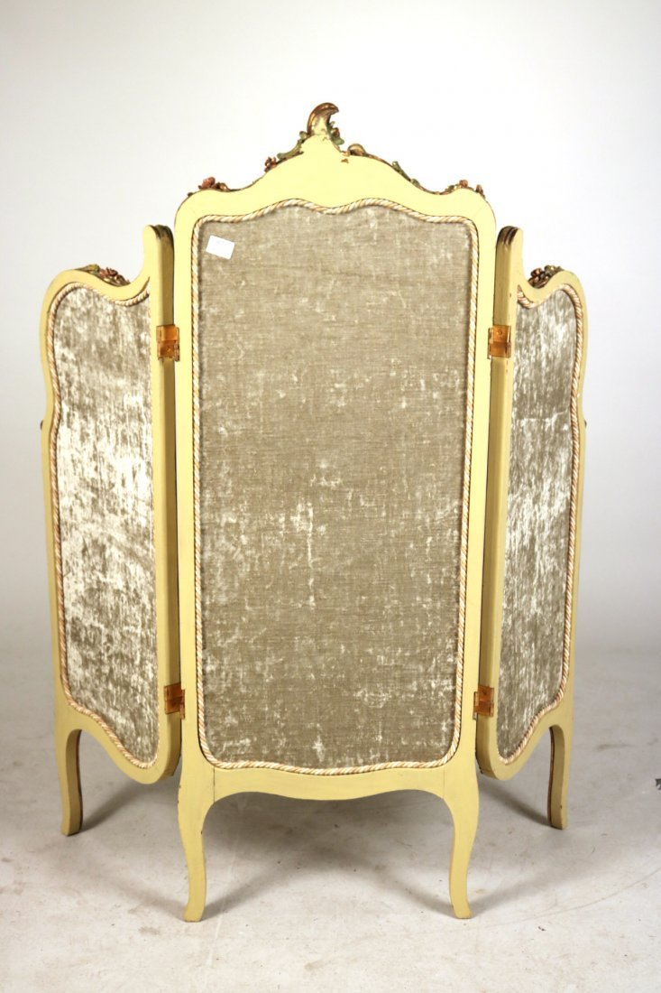Louis XV Style Paint-Decorated Three-Panel Screen - 6