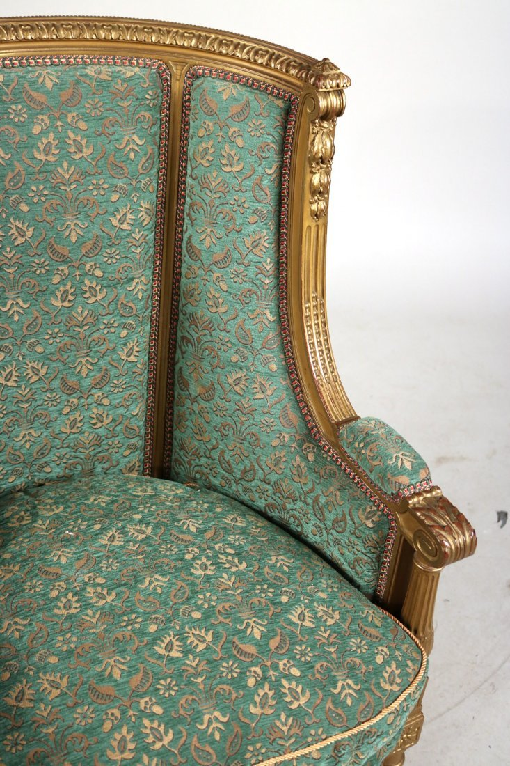 Louis XVI Style Giltwood Barrel-Back Chair - 4