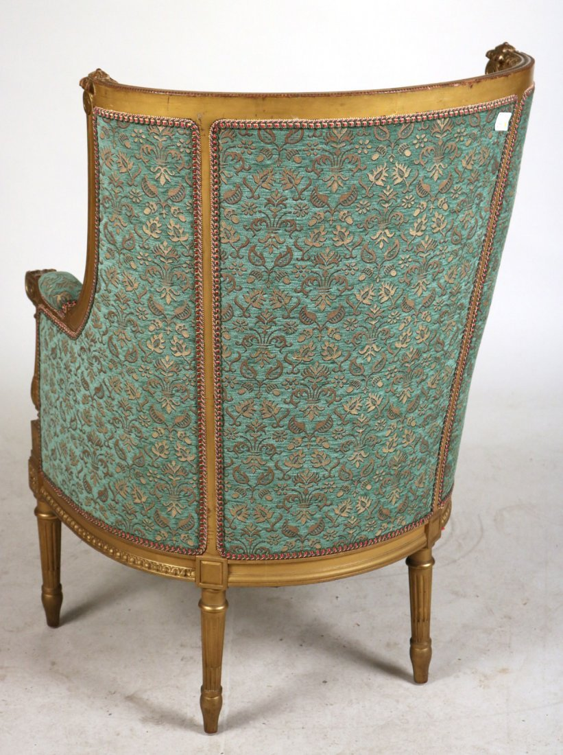 Louis XVI Style Giltwood Barrel-Back Chair - 7