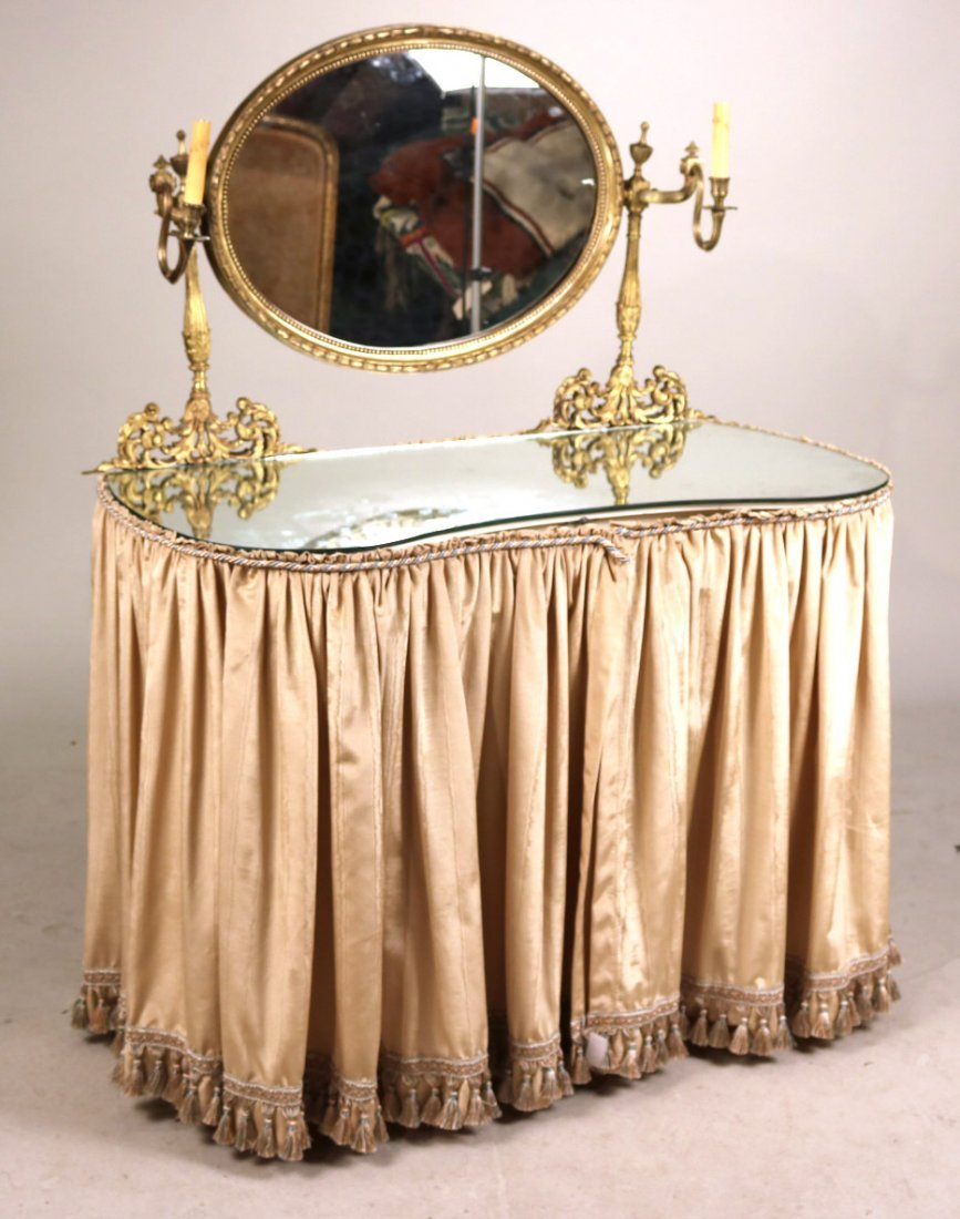Gilt-Metal Mounted White Painted Vanity - 2