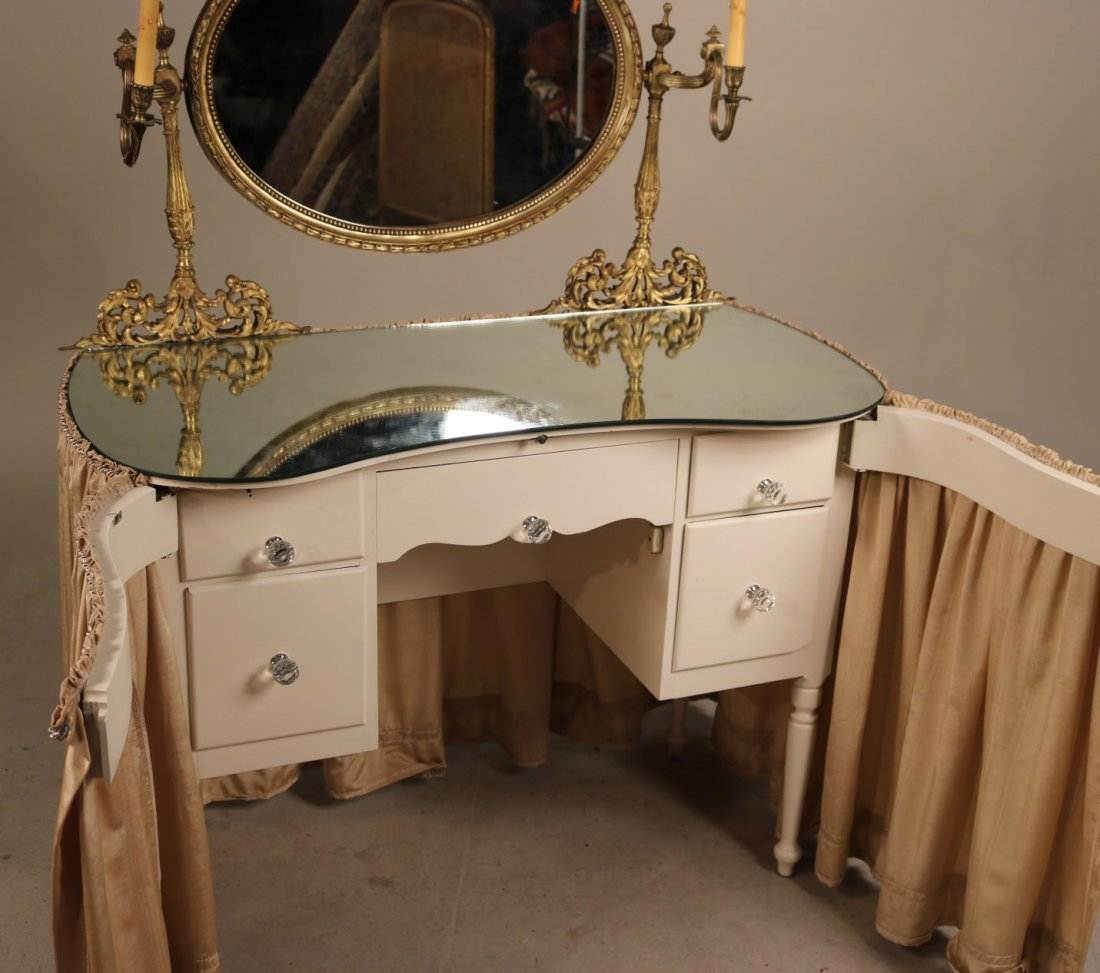 Gilt-Metal Mounted White Painted Vanity - 6