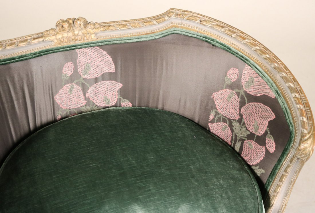 Louis XVI Style Painted Barrel Back Chair - 3