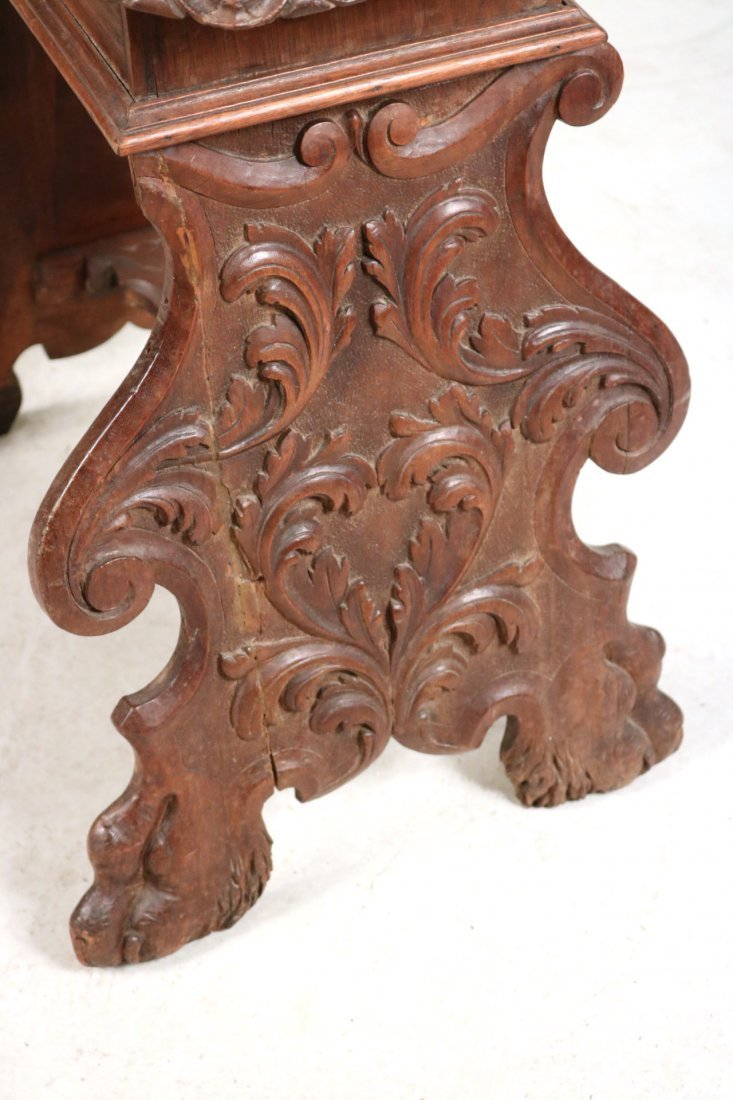 Renaissance Revival Carved Walnut Backstool - 5