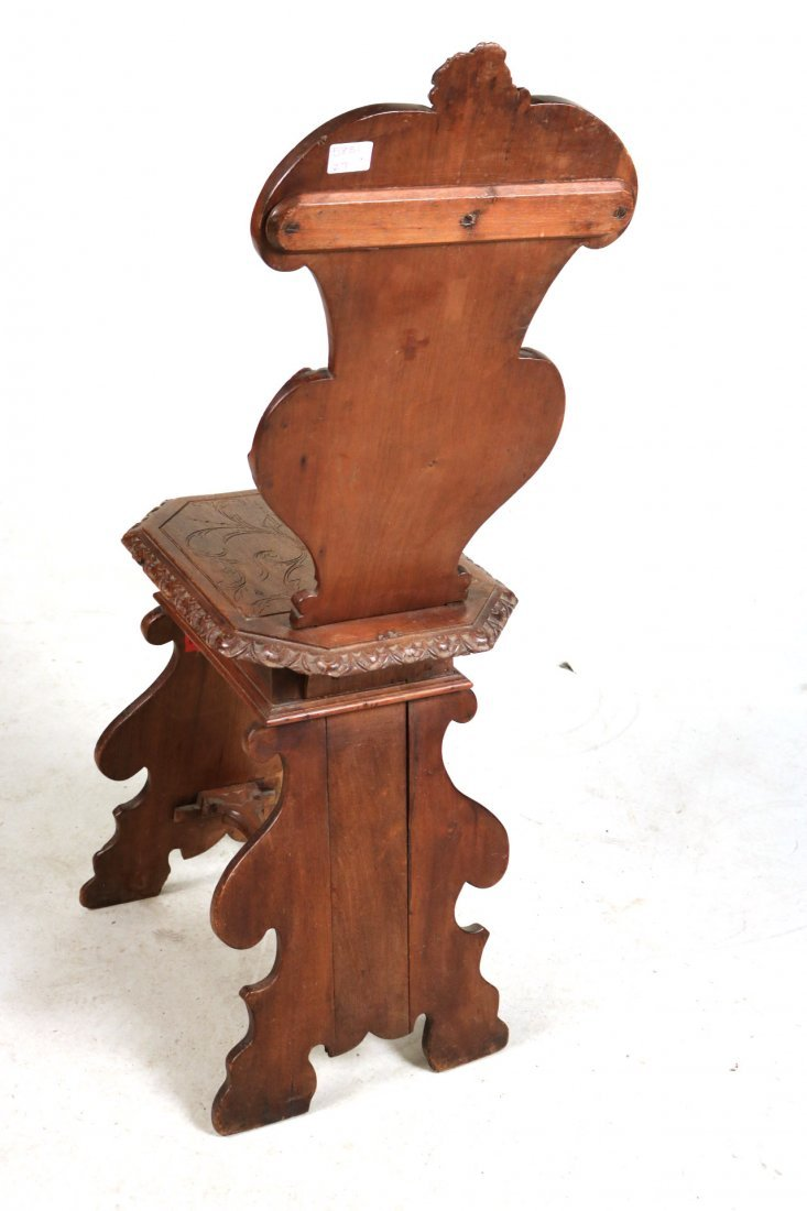 Renaissance Revival Carved Walnut Backstool - 6