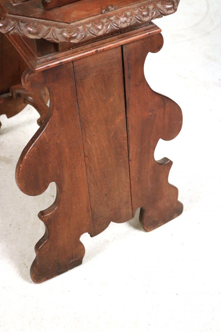 Renaissance Revival Carved Walnut Backstool - 7