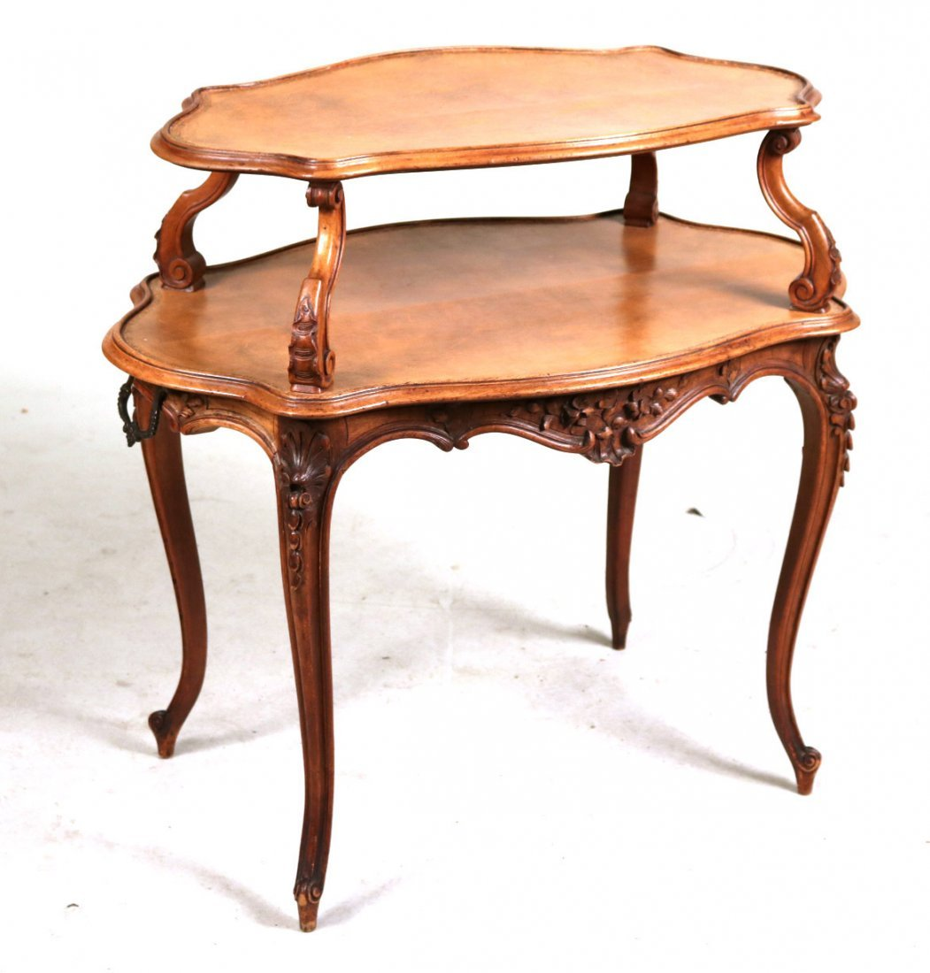 Louis XV Style Carved Mahogany Dessert Table