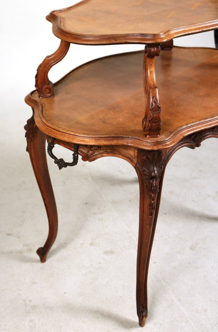 Louis XV Style Carved Mahogany Dessert Table - 2