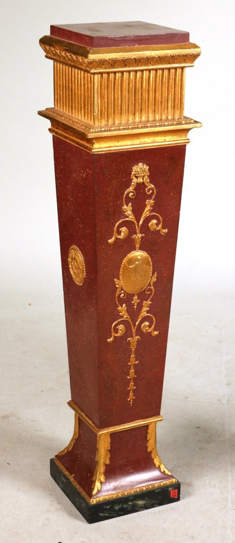 Neoclassical Style Painted Pedestal with Urn - 2
