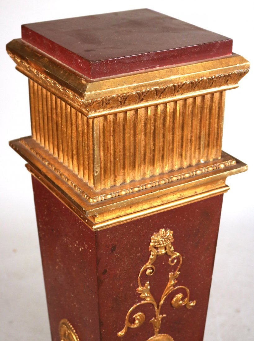 Neoclassical Style Painted Pedestal with Urn - 3