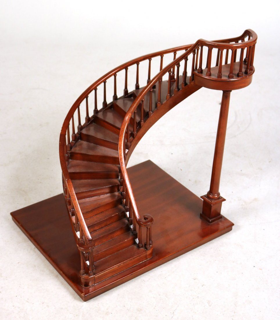 Archetectural Mahogany Spiral Staircase Model