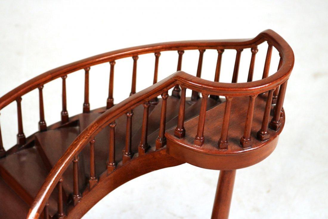 Archetectural Mahogany Spiral Staircase Model - 2