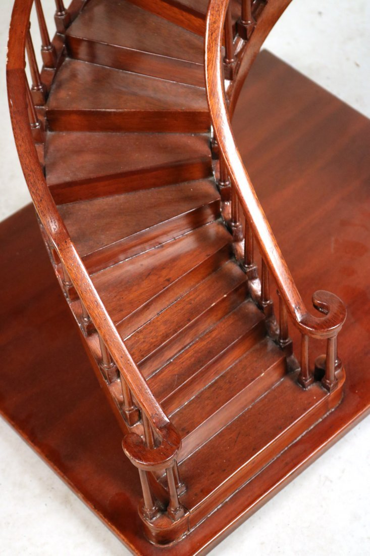 Archetectural Mahogany Spiral Staircase Model - 3