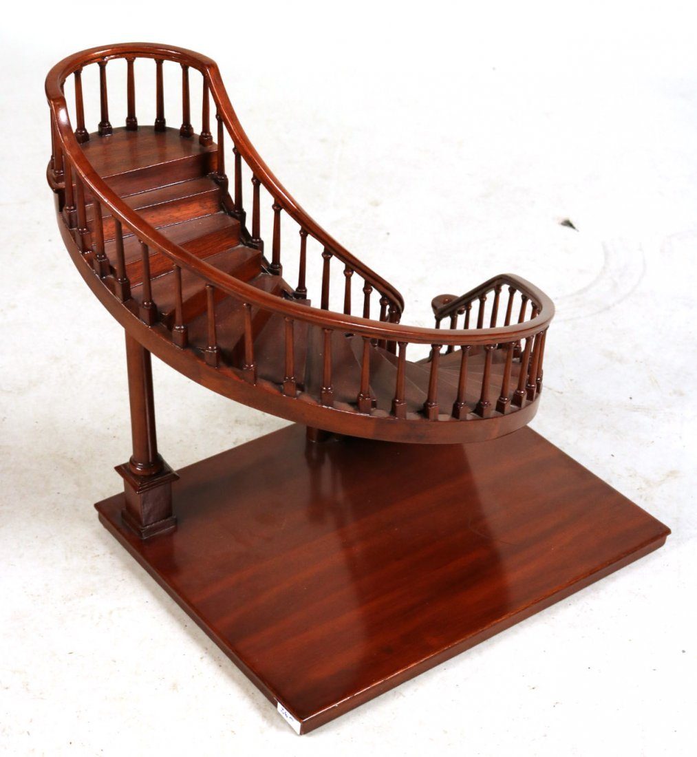 Archetectural Mahogany Spiral Staircase Model - 4