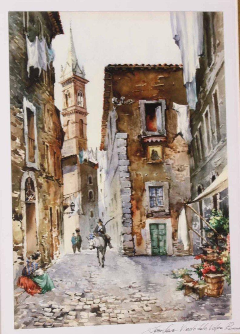 Two Watercolors of Italian Scenes - 2