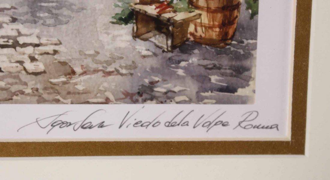 Two Watercolors of Italian Scenes - 3