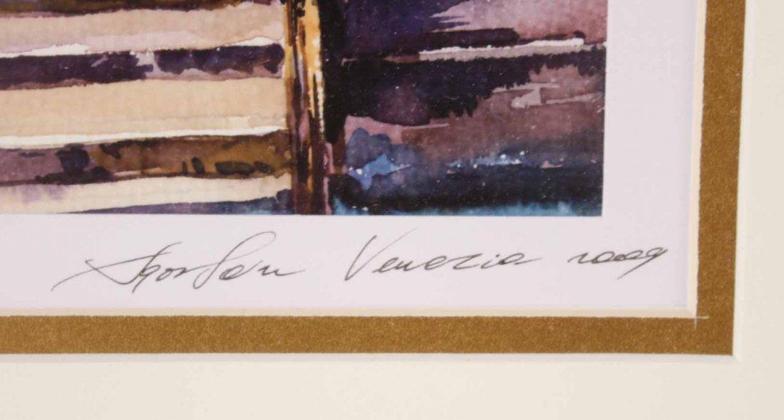 Two Watercolors of Italian Scenes - 5