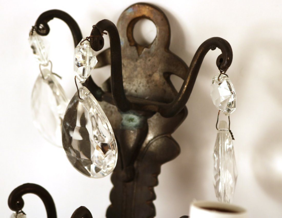 Pair of French Style Five Arm Wall Sconces - 6