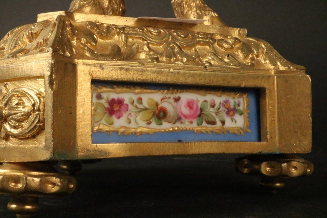 Pair of Louis XVI Style Gilt Metal Candelabra - 3