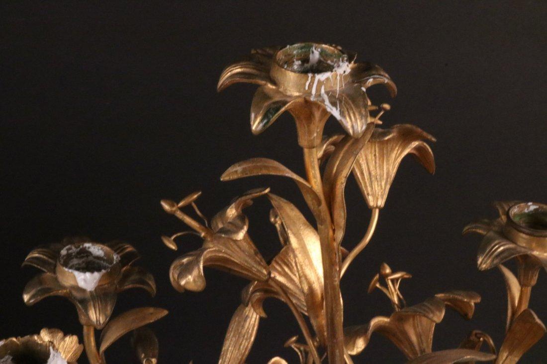 Pair of Louis XVI Style Gilt Metal Candelabra - 8