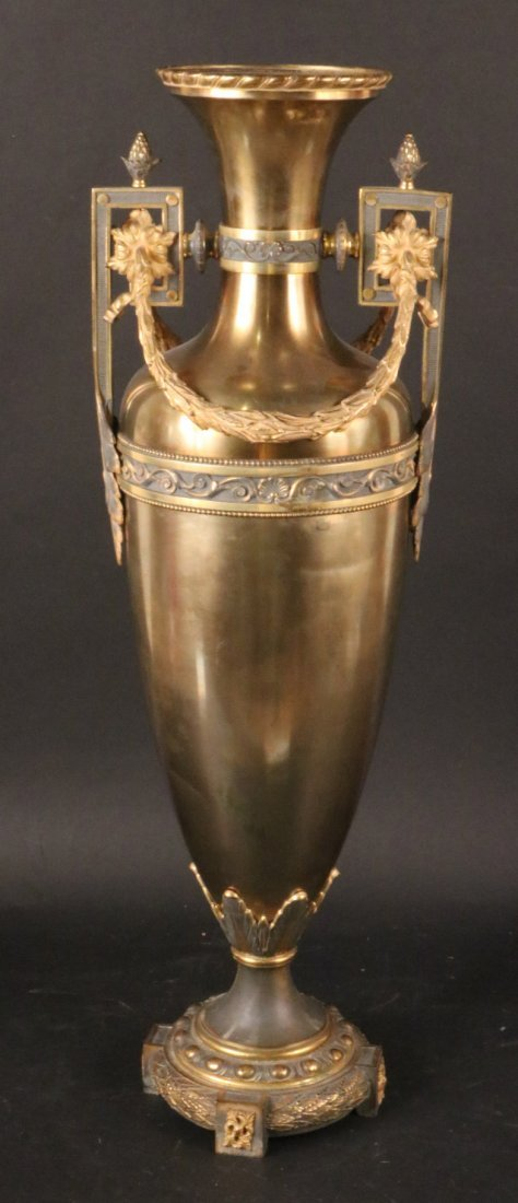 Neoclassical Style Brass Urn