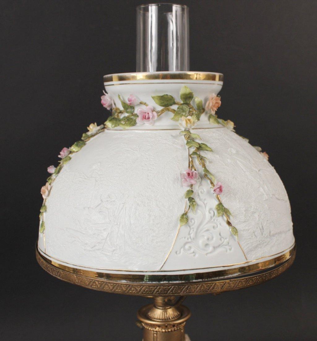 German Porcelain Putti Motif Fluid Lamp - 5