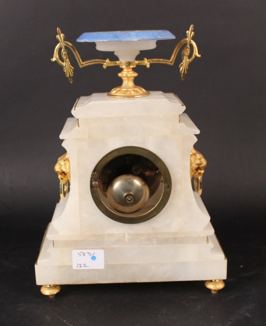 French Hard Stone Gilt Metal Mounted Clock - 5