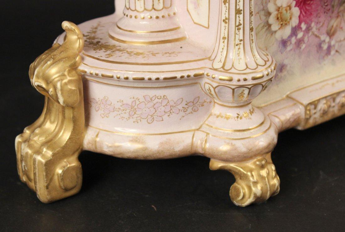 German Porcelain Mantle Clock - 2