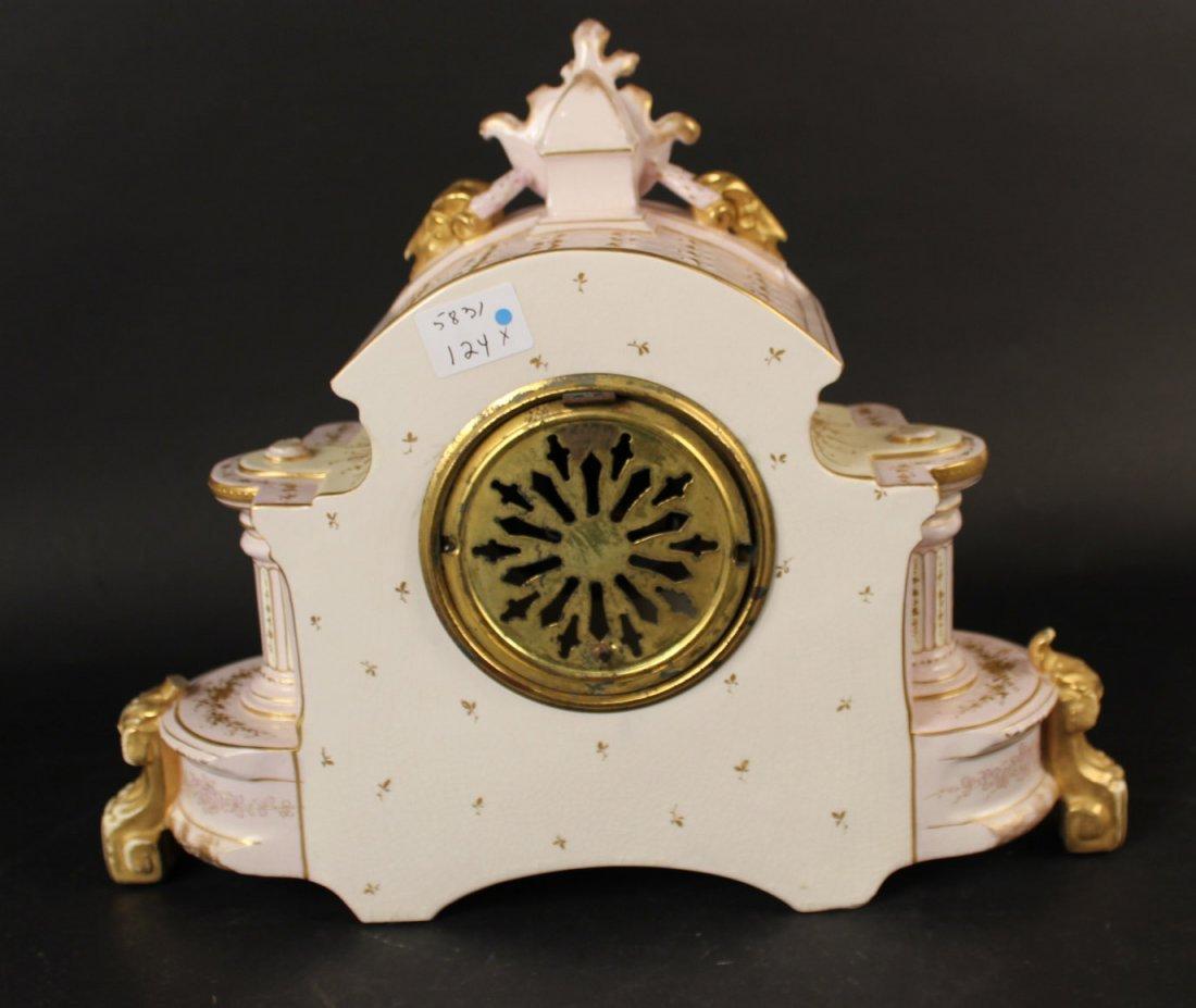 German Porcelain Mantle Clock - 9