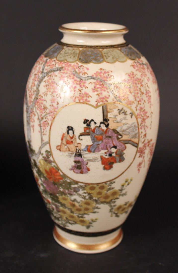 Three Japanese Satsuma Vases - 2