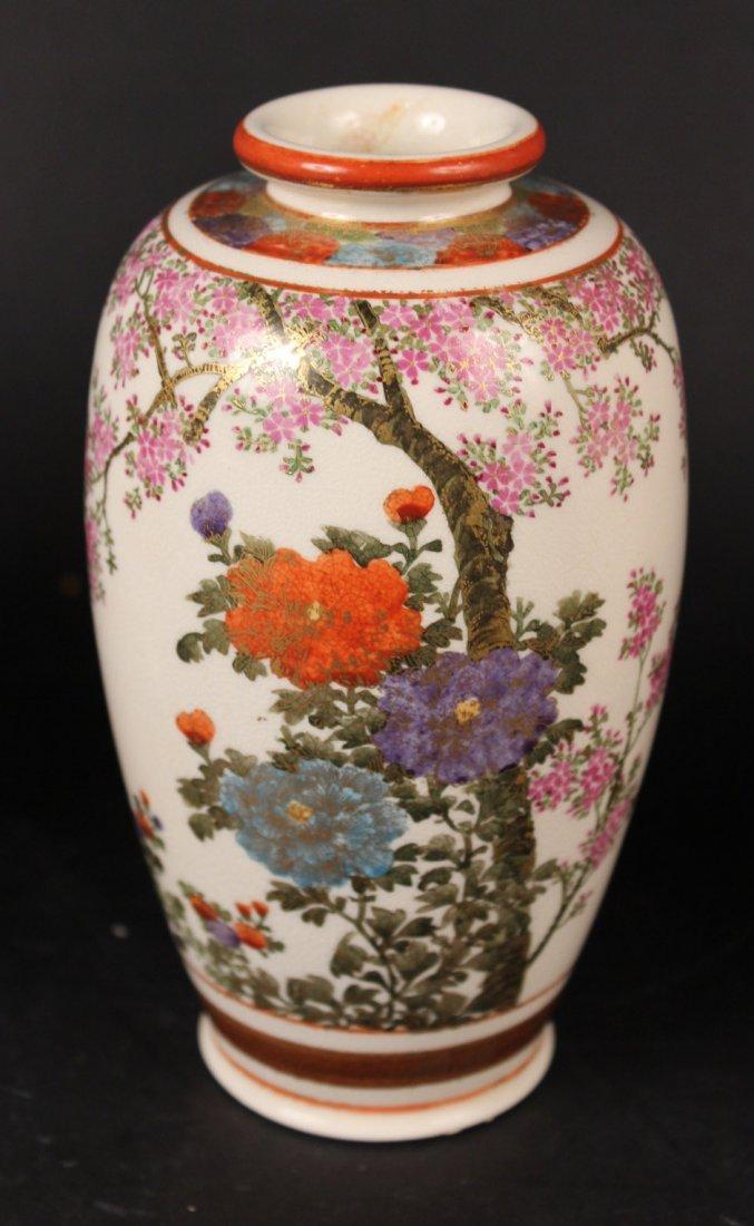 Three Japanese Satsuma Vases - 4