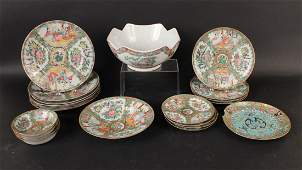 Group of Famille Rose Porcelain Articles