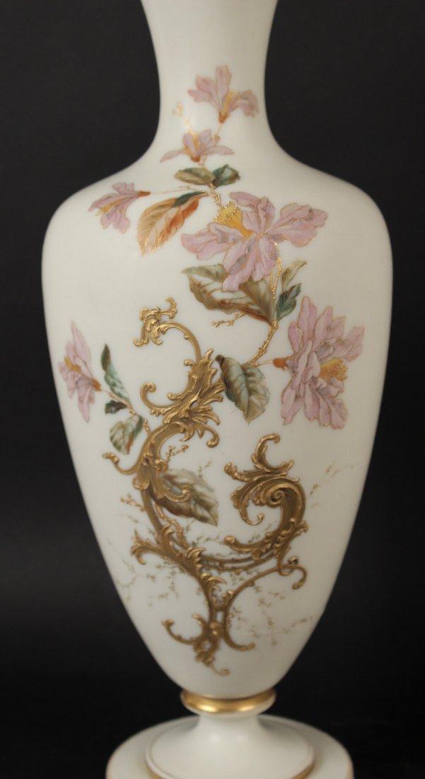 Pair of Opaline Glass Vases - 4