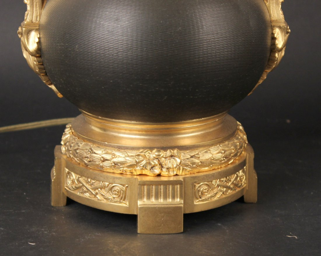 Pair of Louis XVI Style Patinated Bronze Urns - 3