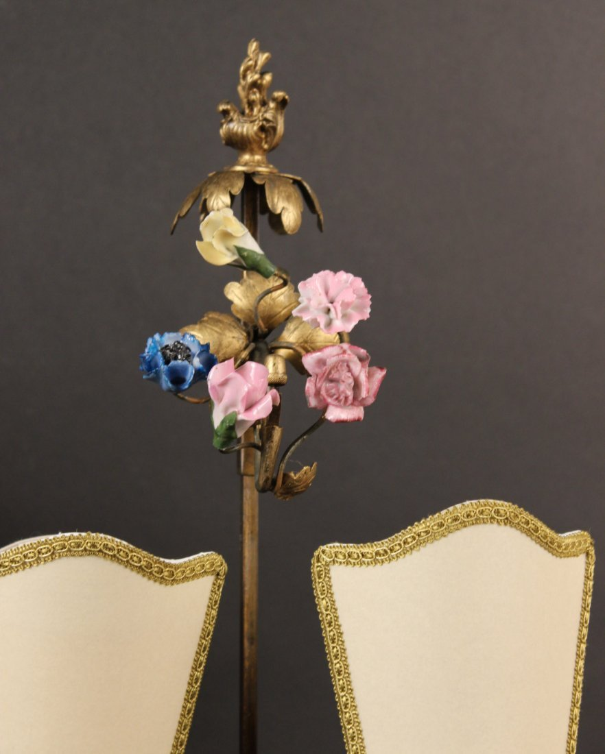 Two Bronze and Porcelain Boulliote Lamps - 3