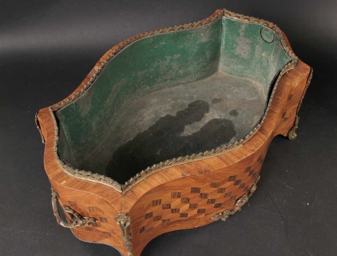 Bronze-Mounted Marquetry Planter - 5