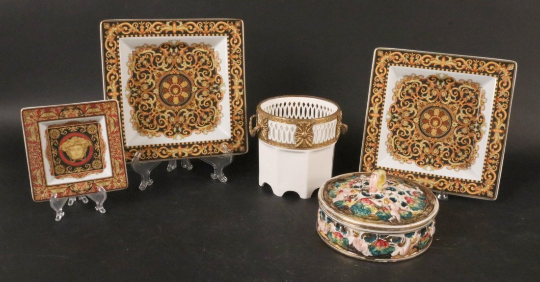 Three Rosenthal Versace Square Plates