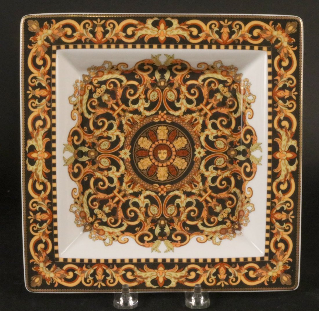 Three Rosenthal Versace Square Plates - 2